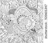 tracery seamless calming... | Shutterstock . vector #520601347