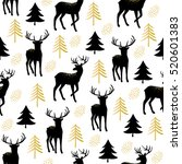christmas seamless pattern with ... | Shutterstock .eps vector #520601383