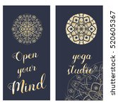 templates with mandala. | Shutterstock .eps vector #520605367