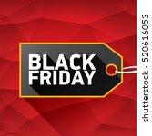 vector black friday sales tag... | Shutterstock .eps vector #520616053