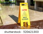 sign showing warning of caution ... | Shutterstock . vector #520621303