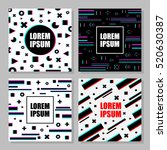 set of dynamic design with... | Shutterstock .eps vector #520630387