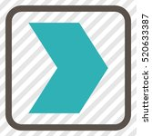 direction right grey and cyan... | Shutterstock .eps vector #520633387