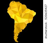 map of south america original... | Shutterstock .eps vector #520635427