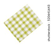 napkin isolated on white. multi ... | Shutterstock . vector #520641643