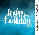 Happy Birthday Brush Lettering...