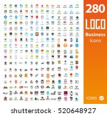 set of 280 usable business logos | Shutterstock .eps vector #520648927