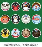 set of round stickers with an...   Shutterstock .eps vector #520653937