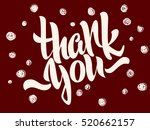 thank you lettering. hand... | Shutterstock .eps vector #520662157