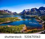 beautiful nature norway natural ... | Shutterstock . vector #520670563