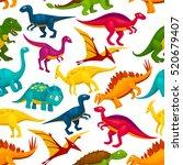 dinosaur and jurassic animal... | Shutterstock .eps vector #520679407