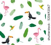 tropical seamless pattern with... | Shutterstock .eps vector #520692067