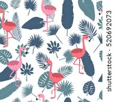 tropical seamless pattern with... | Shutterstock .eps vector #520692073