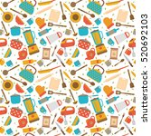 cute seamless pattern with... | Shutterstock .eps vector #520692103