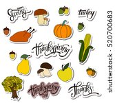 happy thanksgiving day... | Shutterstock .eps vector #520700683