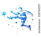 illustration of abstract... | Shutterstock . vector #520703257