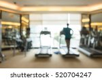 abstract blur gym and fitness... | Shutterstock . vector #520704247