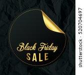 sticker of black friday. gold... | Shutterstock .eps vector #520704697