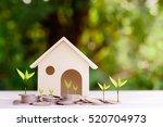 concept of saving money for a... | Shutterstock . vector #520704973