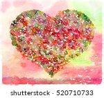 digital watercolor painting of... | Shutterstock . vector #520710733