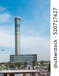 Small photo of Bangkok, Thailand - NOV 20, 2016 : Air Traffic Control Tower of Suvarnabhumi International Airport, The top 3 tallest air traffic control towers in the world.
