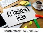 retirement plan savings  senior ... | Shutterstock . vector #520731367