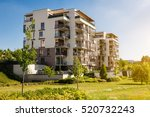 modern block of flats in the... | Shutterstock . vector #520732243