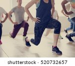 diversity people exercise class ... | Shutterstock . vector #520732657