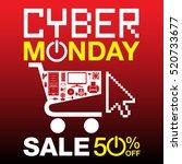 cyber monday background | Shutterstock .eps vector #520733677
