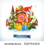 merry christmas and happy new... | Shutterstock .eps vector #520741423