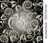 paisley seamless pattern.... | Shutterstock .eps vector #520745743