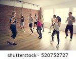 diversity people exercise class ... | Shutterstock . vector #520752727