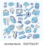 set of business doodle | Shutterstock .eps vector #520756237