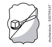 isolated frame of sugar frame... | Shutterstock .eps vector #520759147