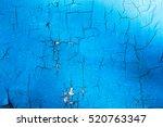 Crack Texture On Blue Background
