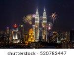 the petronas twin towers kuala... | Shutterstock . vector #520783447