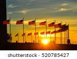 washington monument at sunset   ... | Shutterstock . vector #520785427