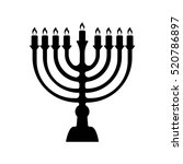 menorah for hanukkah  vector... | Shutterstock .eps vector #520786897