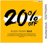 20  off black friday sale ... | Shutterstock .eps vector #520792093