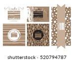 vector templates for cafe  ... | Shutterstock .eps vector #520794787