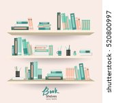 Bookshelves With Books And...