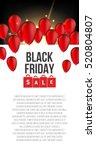 abstract vector black friday... | Shutterstock .eps vector #520804807