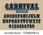 vector of vintage carnival font ... | Shutterstock .eps vector #520804813