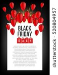 abstract vector black friday... | Shutterstock .eps vector #520804957