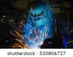 worker is welding assembly car... | Shutterstock . vector #520806727