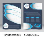 brochure template. business... | Shutterstock .eps vector #520809517
