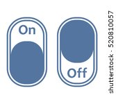 on off switch icon vector flat... | Shutterstock .eps vector #520810057