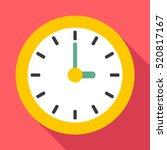 Clock Icon. Flat Illustration...