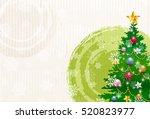 christmas japanese paper snow... | Shutterstock .eps vector #520823977