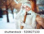 close up winter portrait of a... | Shutterstock . vector #520827133